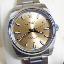 Rolex Oyster Perpetual 34 pre-owned 34mm Champagne Steel