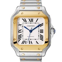 Cartier new Automatic 35.1mm Gold/Steel Sapphire crystal