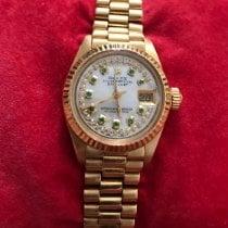 Rolex Or jaune Remontage automatique Nacre Sans chiffres 26mm occasion Lady-Datejust