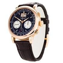 A. Lange & Söhne Rose gold Automatic Black Arabic numerals 41mm pre-owned Datograph