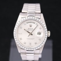 Rolex Day-Date 36 occasion 36mm Argent Date Or blanc