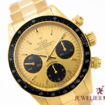 Rolex Oro amarillo Cuerda manual Champán Sin cifras 37mm usados Daytona