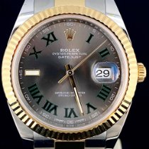 Rolex Datejust II Gold/Stahl 41mm Grau Keine Ziffern