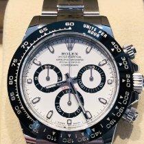 Rolex Daytona Ocel 40mm Bílá Bez čísel