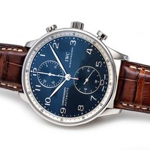 IWC Portuguese Chronograph Acier 41mm Bleu Arabes France, Paris