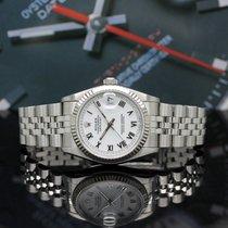Rolex Lady-Datejust Acero 31mm Blanco Romanos