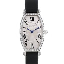 Cartier Tonneau Or blanc Argent Romains France, Paris