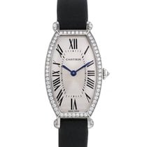 Cartier Tonneau Or blanc 21mm Argent Romains France, Paris