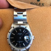 Rolex Oyster Perpetual Date Acier 34mm Noir Sans chiffres France, Merignac