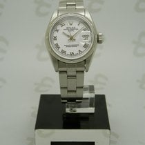 Rolex Oyster Perpetual Lady Date usados 26mm Blanco Fecha Acero
