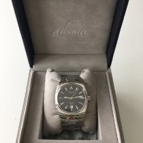 Atlantic Steel Automatic Black No numerals 40mm pre-owned