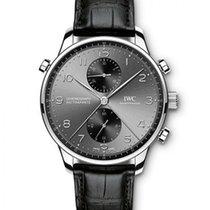 IWC Portugieser Chronograph Stahl 40.9mm Grau Arabisch