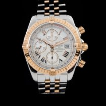 Breitling Chronomat Evolution occasion 44mm Blanc Chronographe Date Tachymètre Or/Acier