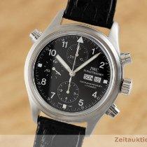 IWC Pilot Double Chronograph Otel 42mm Negru