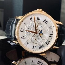 Edox Les Bémonts Gold/Steel 42mm Silver Roman numerals