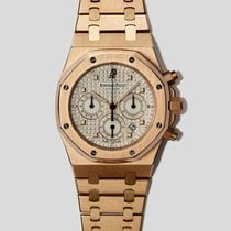 Audemars Piguet Royal Oak Chronograph Ruzicasto zlato 39mm Bjel