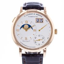 A. Lange & Söhne Grand Lange 1 pre-owned 41mm Silver Date Leather