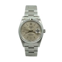 Rolex Steel Automatic Silver 34mm pre-owned Oyster Perpetual Date