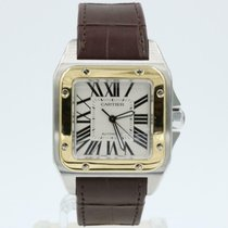 Cartier Santos 100 Gold/Steel 38mm White Roman numerals United States of America, Florida, Naples