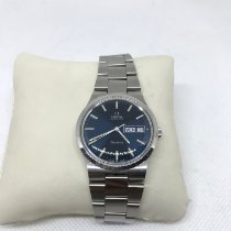 Omega Genève Steel 35mm Blue No numerals