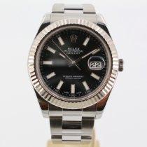 Rolex Datejust II Ocel 41mm Černá Bez čísel