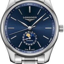 Longines Steel Automatic Blue No numerals 42mm new Master Collection