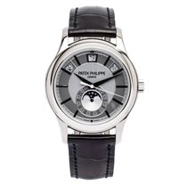 Patek Philippe White gold Automatic Silver 40mm new Annual Calendar