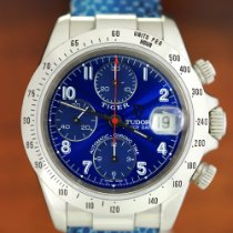 Tudor Tiger Prince Date pre-owned 40mm Blue Chronograph Date Steel