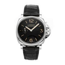 Panerai Luminor Due Acero 42mm Negro Arábigos