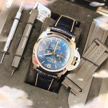 Panerai Luminor 1950 8天GMT钛合金47mm蓝色阿拉伯数字美国,爱荷华州,得梅因