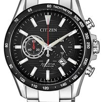 Citizen Titanium Quartz Black 43mm new