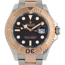 Rolex Yacht-Master 40 Zlato/Zeljezo 40mm Crn Bez brojeva