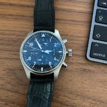 IWC Pilot Chronograph folosit 43mm Negru Cronograf Data Afisaj zi Catarama cu limba