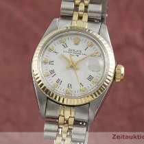 Rolex Lady-Datejust Or/Acier 26mm Blanc
