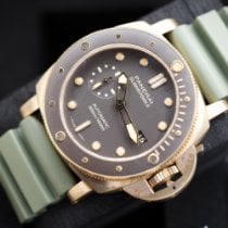 Panerai Luminor Submersible Bronce 47mm Marrón Sin cifras