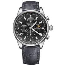 Aerowatch Les Grandes Classiques Steel 44mm Black No numerals
