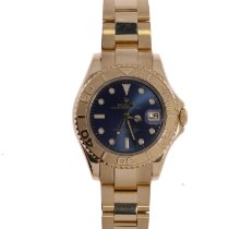 Rolex Yacht-Master Yellow gold 35mm Blue No numerals