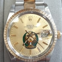 Rolex Oyster Perpetual Date pre-owned 34mm Gold Date Gold/Steel