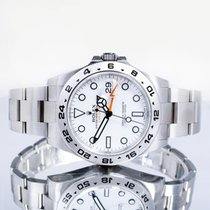 Rolex Explorer II Acier 42mm Blanc