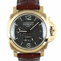 Panerai Luminor 1950 8 Days GMT Rose gold 44mm Black Arabic numerals United States of America, New York, Smithtown