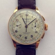 Chronographe Suisse Cie Or jaune 35mm incl crown 32mm excl crownmm Remontage automatique occasion