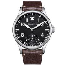 Aerowatch Renaissance Steel 43mm Black Arabic numerals