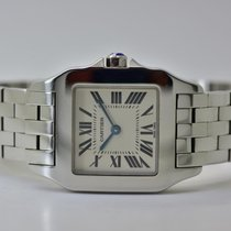 Cartier Santos Demoiselle Сталь 27mm Белый Римские