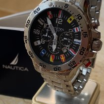 Nautica Steel 48mm Quartz A29512g new
