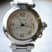 Cartier Pasha C Steel 35mm Silver Arabic numerals United Kingdom, Kings Langley