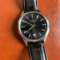 Zenith Captain Central Second pre-owned 40mm Black Date Leather