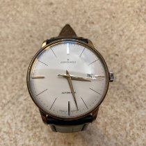 Junghans Meister Chronometer pre-owned Silver Date Leather