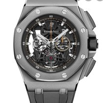 Audemars Piguet Royal Oak Offshore Tourbillon Chronograph Titanium 44mm Transparent No numerals