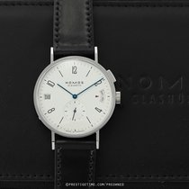 NOMOS Tangomat GMT Steel 40mm Silver United States of America, New York, Airmont