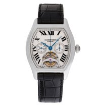 Cartier Platinum Manual winding White Roman numerals 39mm pre-owned Tortue